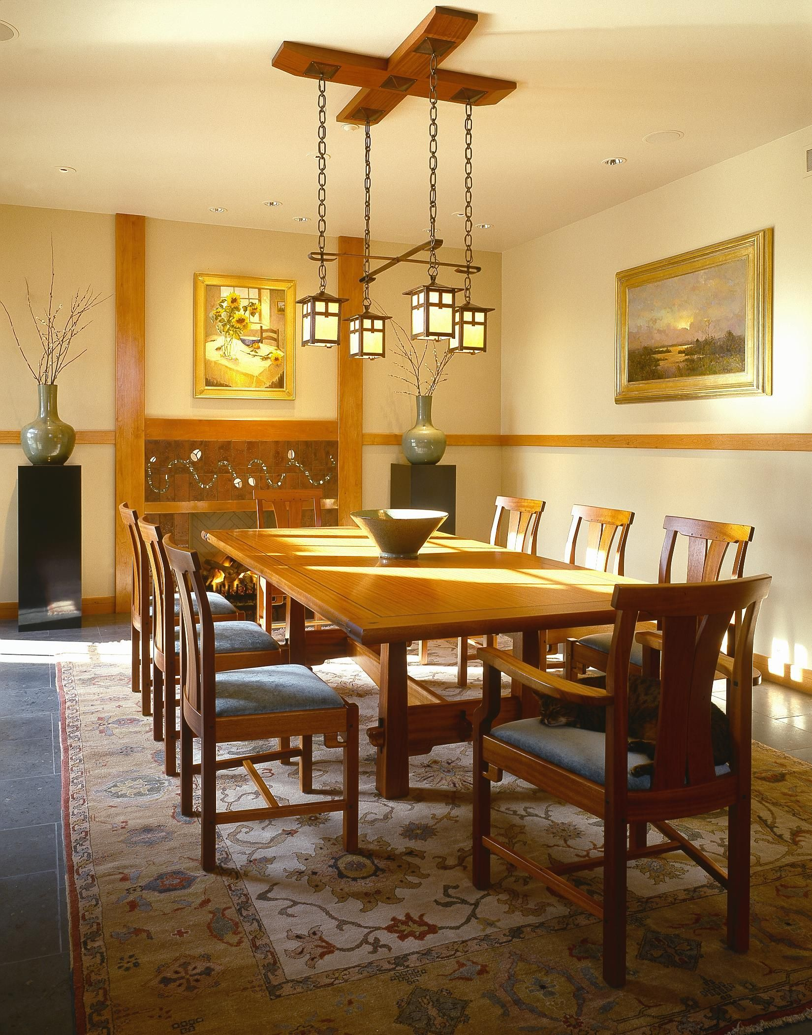 Pyramid Leg Dining Table and Strand Chairs by NWG member Tom