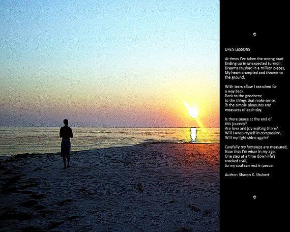 POETRY Digital Art Life's Lessons Poem Verse by GrayWolfGallery, $25.00