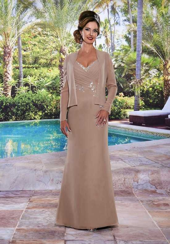 Beautiful Mothers By Mary S M2487 Brown Mother Of The Bride Dress