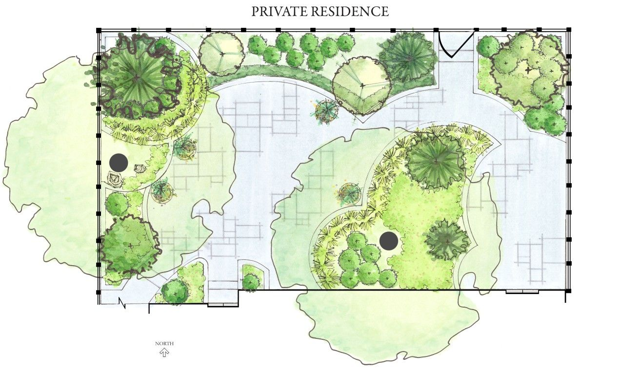 Privacy entry planting ideas while this design plan may for Good landscape design