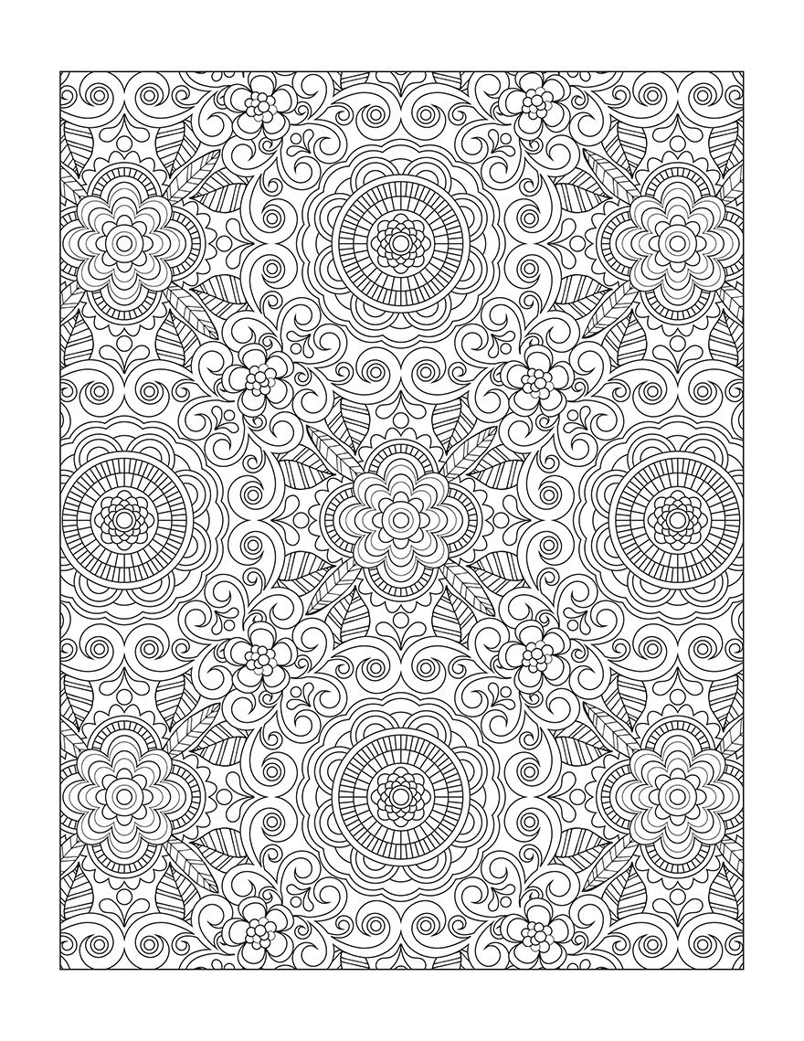 Flower designs coloring book - Flower Designs I Create Coloring Books To Stimulate Creativity