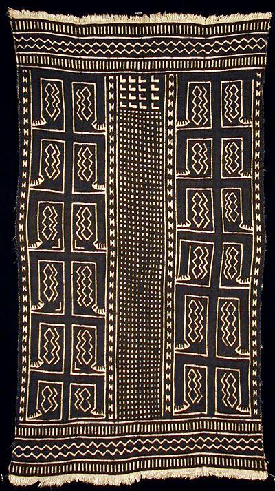 Africa Bogolanfini Mud Cloth Tafé Wrer Artist Nae Diarra Bamana People Beledougou Area Mali Cotton