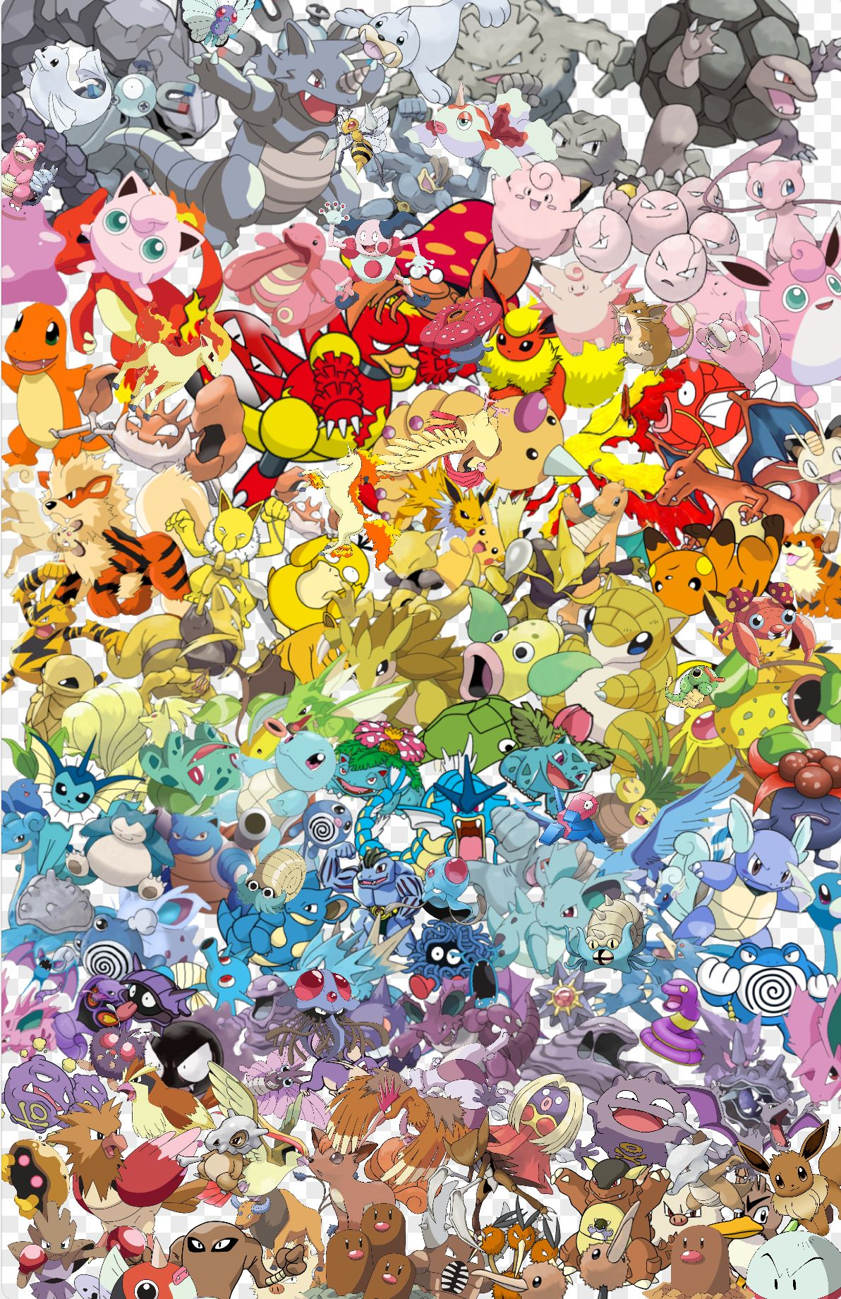 All Kant Pokemon Sorted By Color I M So Proud Of Myself