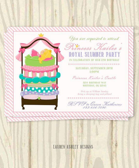 Pea Birthday Party Invitation