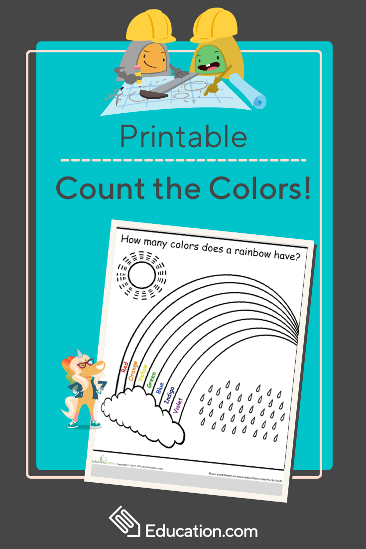 How Many Colors in a Rainbow? | Math Mania | Pinterest | Learning ...