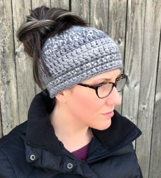Messy Bun Beanie With Images Messy Bun Hat Crochet Bun Hat