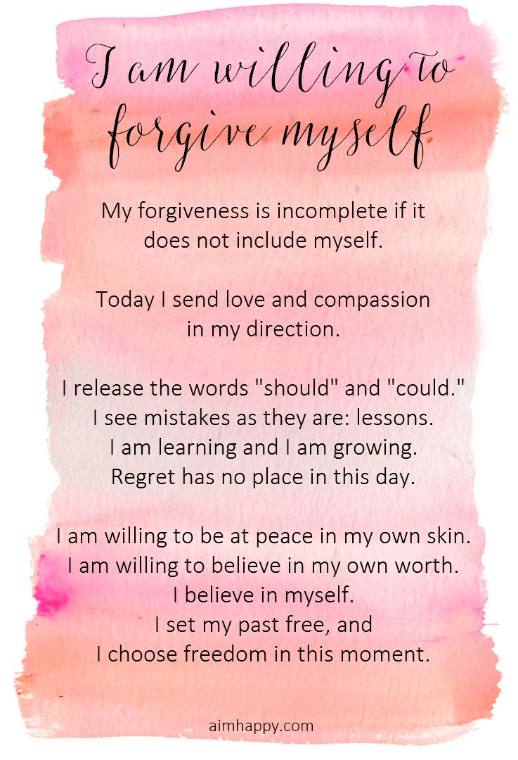 The Essential Affirmation For Forgiving Yourself Quotes