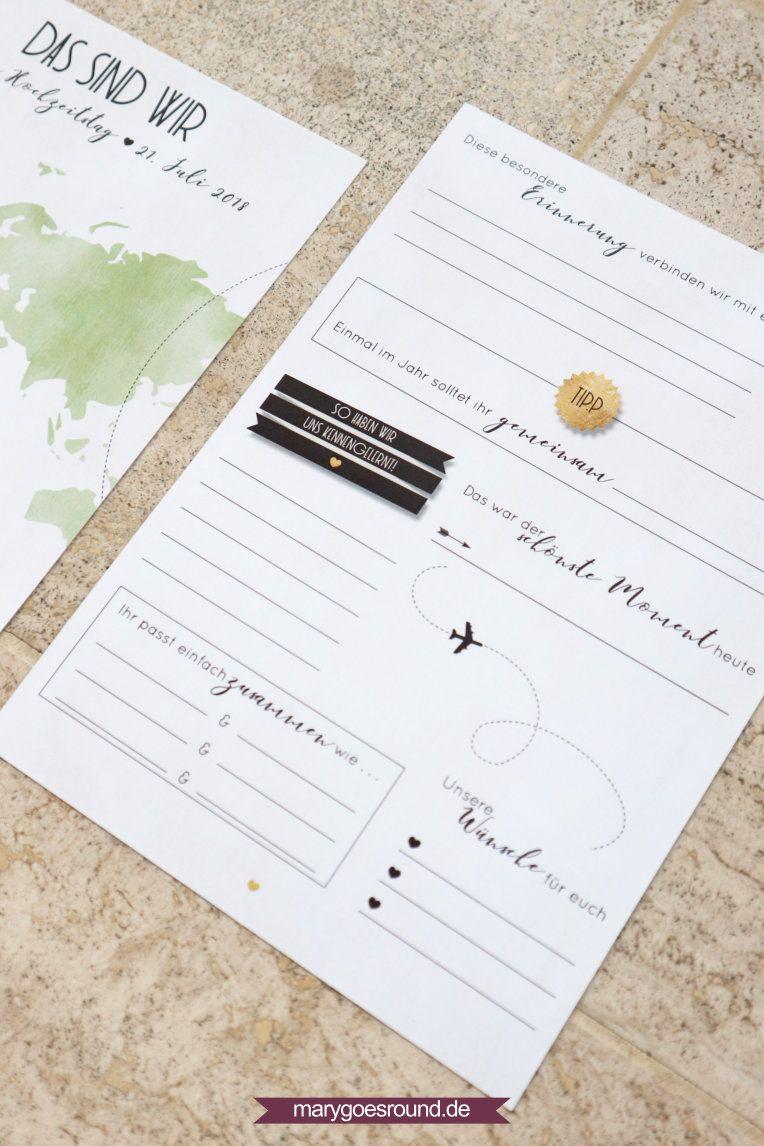 Gästekarten zum ausfüllen und mit platz für ein foto der gäste die perfekte alternative zum
