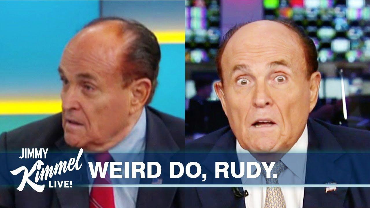 We Need To Talk About Rudy Giuliani S Hair Youtube Rudy Giuliani Steve Carell Robin Thicke