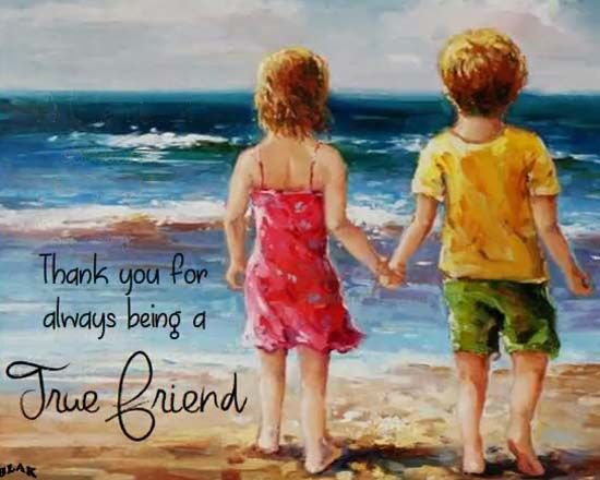 A True Friend Is One Who Is Always There With You Through The