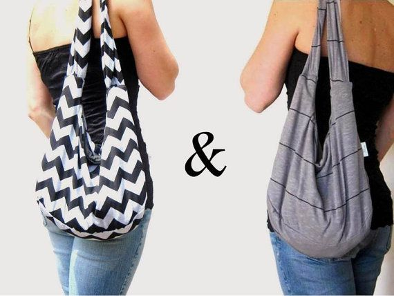 Purse. Reversible Cross Body Hobo Purse. Original Design. JERSEY ...