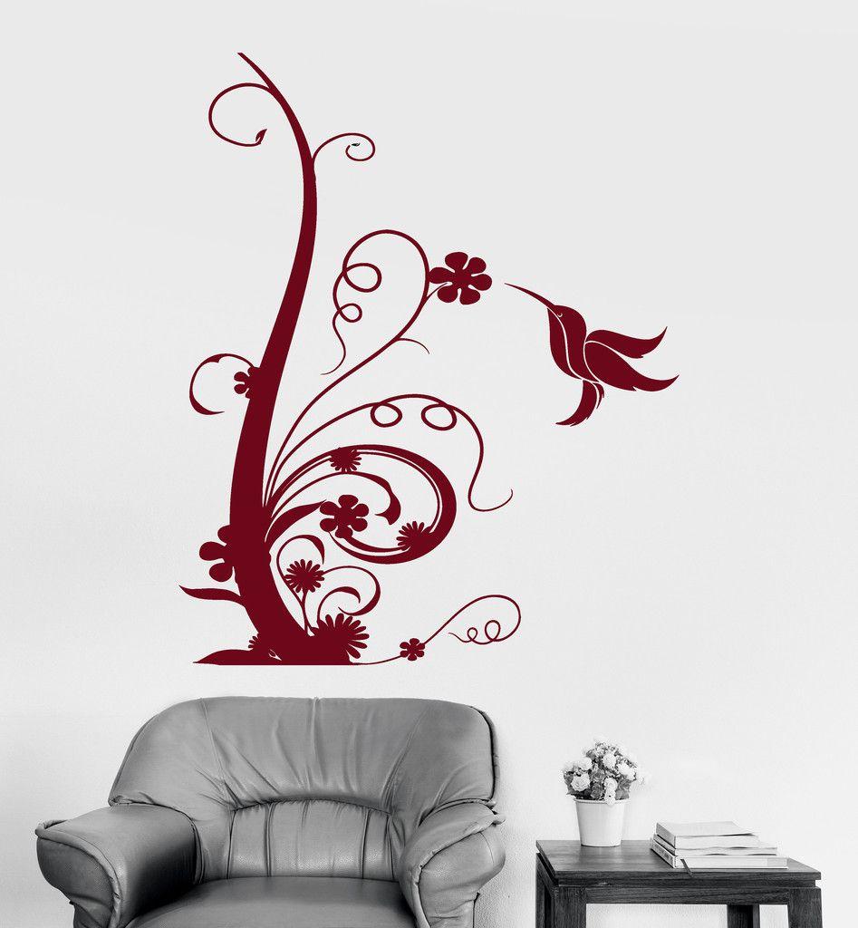 vinyl wall decal beautiful bird flower art floral room decoration vinyl wall decal beautiful bird flower art floral room decoration stickers ig3050