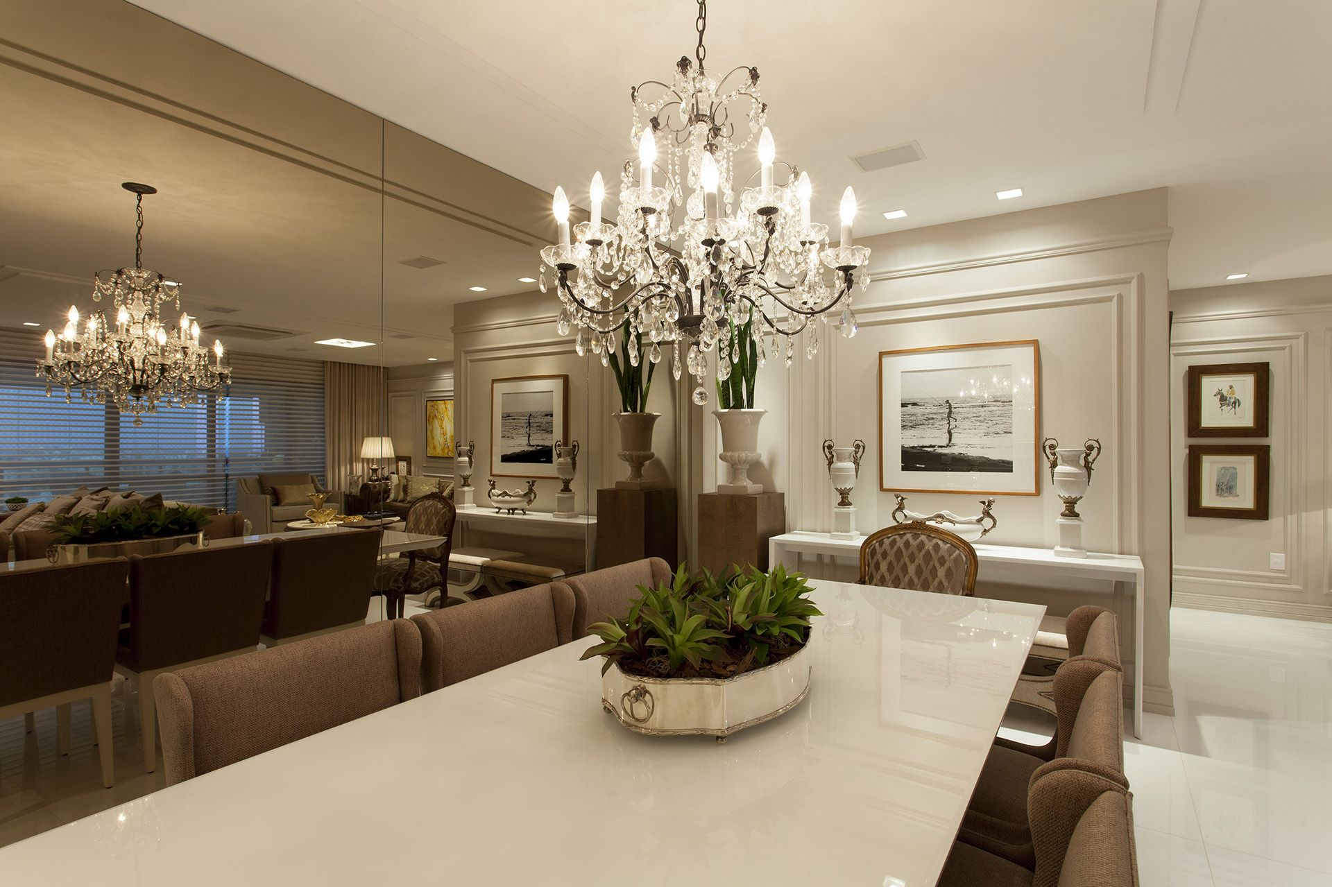 Salas de jantar com espelhos bronze - veja modelos lindos ...