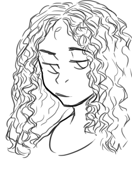 How To Draw Curly Hair Google Search Curly Hair Drawing Curly Hair Styles Hair Sketch