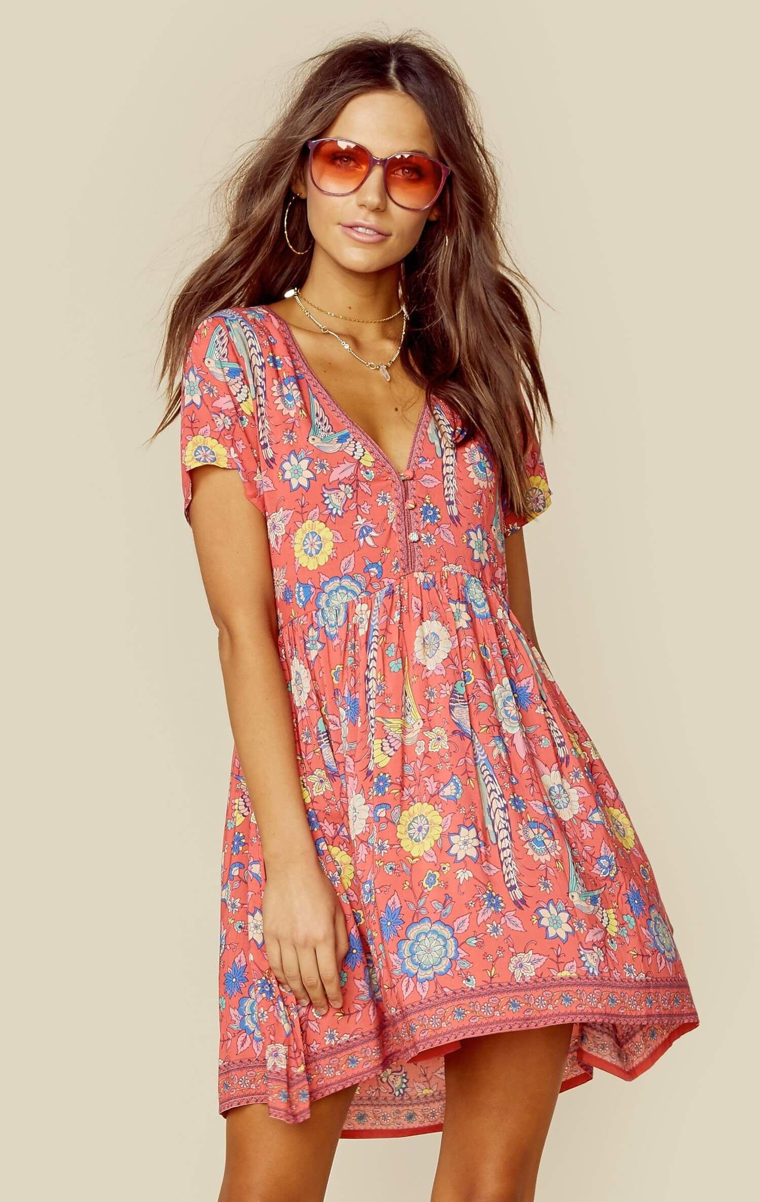 071667c672d9 LOVEBIRD MINI DRESS Boho Dress