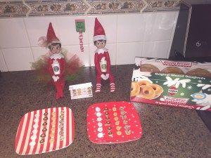 Elf On The Shelf Ideas Mini Elf Donuts Free Donut Box Template