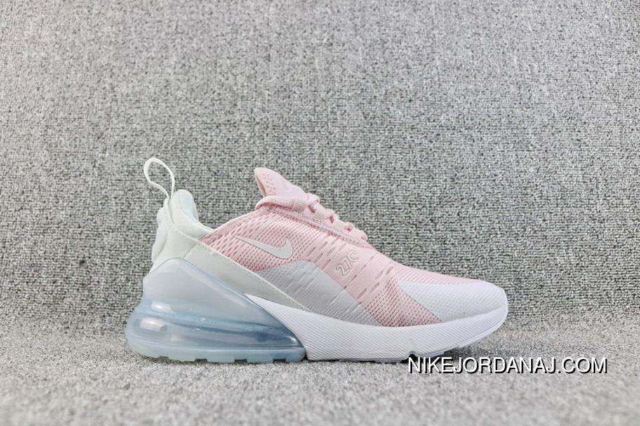 07559fc340c87c Nike Air Max 270 AH6789 602 Overseas Version 270 Pink White Heel Half-palm  As