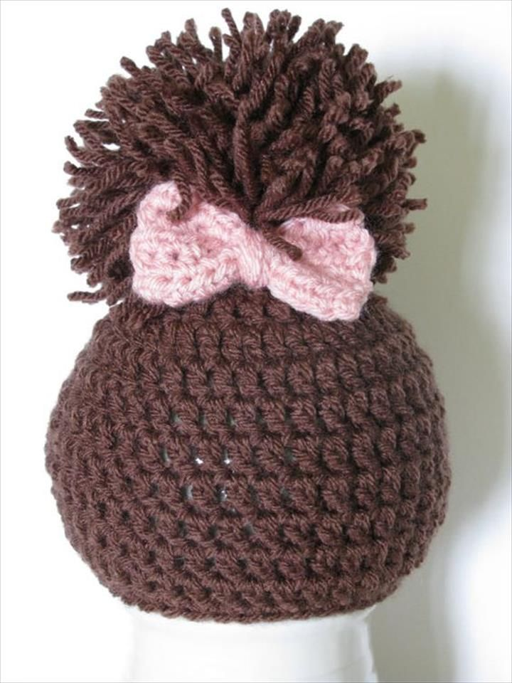 3aa1a0bc43a 30 Amazing Crochet Pom Pom Hat Ideas