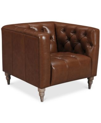 Closeout Tosi 34 Leather Armchair Created For Macy S 745 Hobart