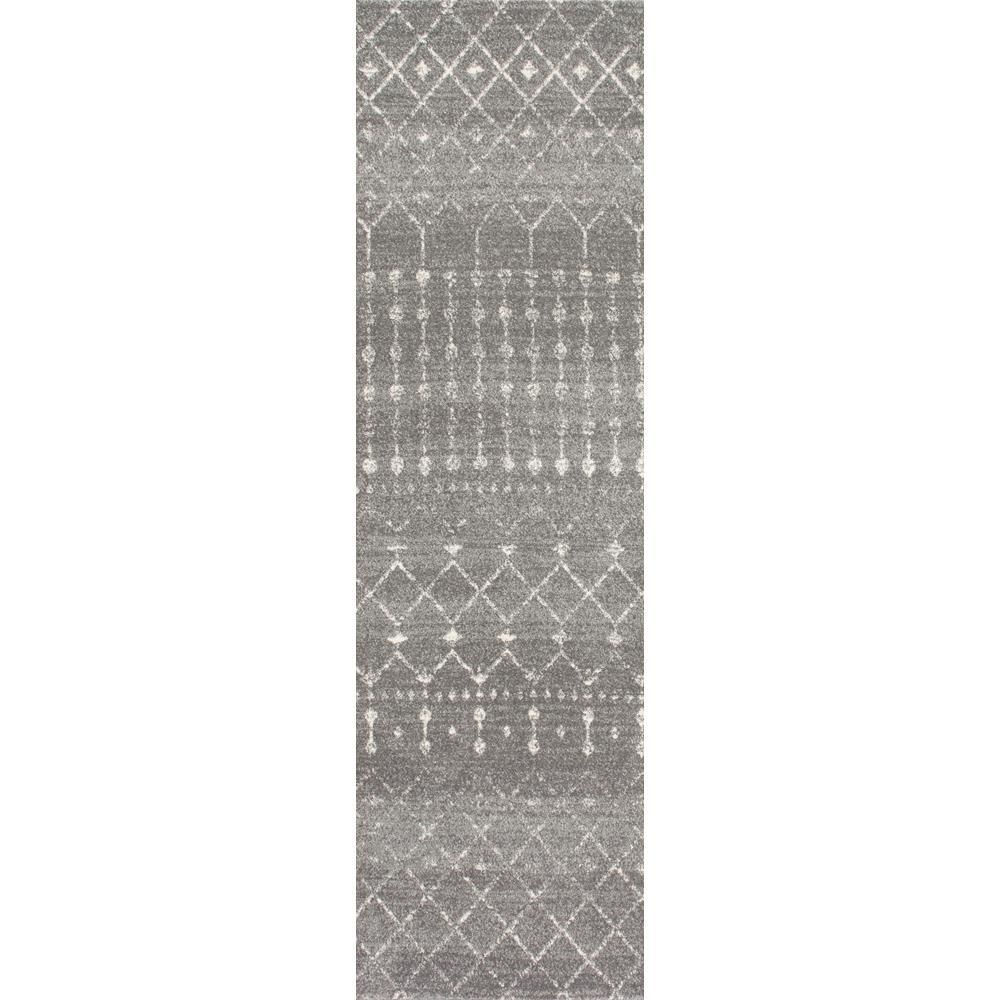 Nuloom Blythe Modern Moroccan Trellis Dark Gray 3 Ft X 8 Ft Runner Dark Grey Modern Moroccan Area Rug Sizes Affordable Area Rugs