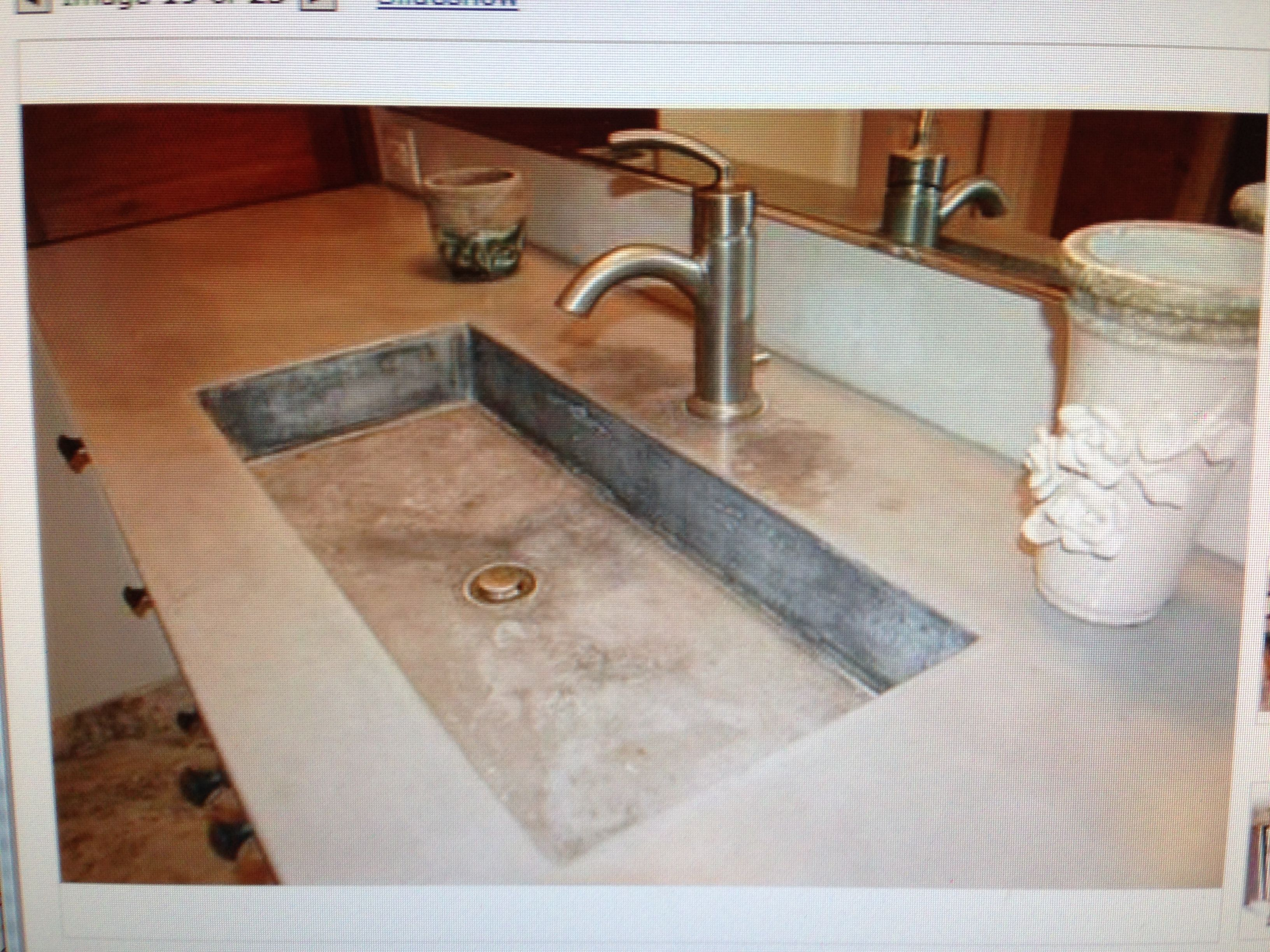 High Quality Concrete Sink. Love The Color And Texture It Has. And The Earthy Natural  Lookin