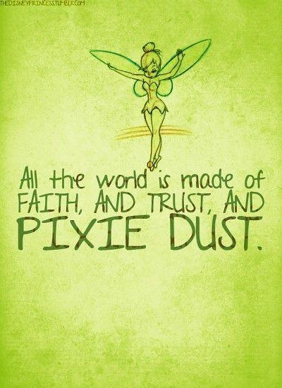 Tinkerbell Quote Peter Pan Disney Disney Tinkerbell Disney