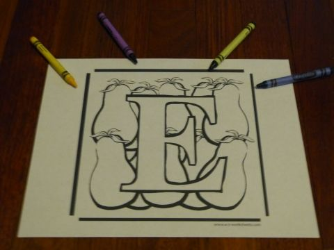 Printable Alphabet Coloring Pages For Toddlers : Alphabet coloring page: 78 abcs plus fruits & veggies letter