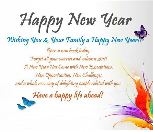 Happy New Year 2018 Quotes : Happy New Year Wishes For Family ...