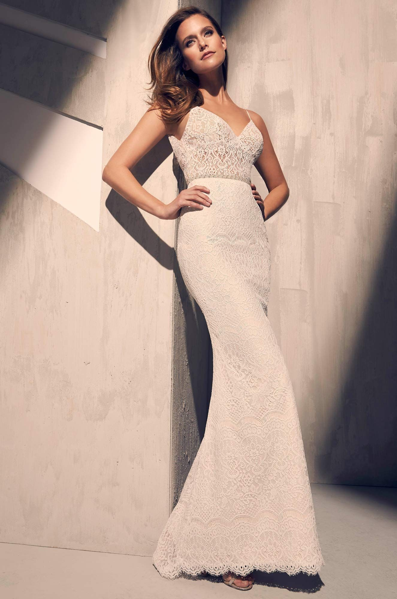 Ornate lace wedding dress style in the big day