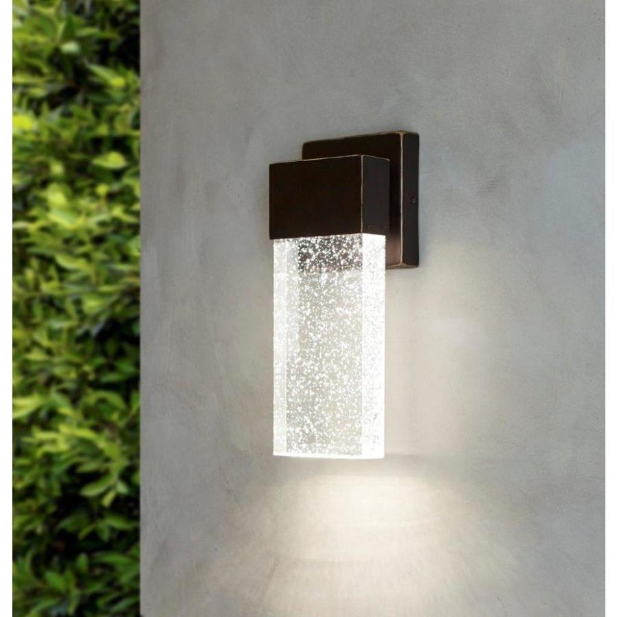 89 allen roth dunwynn 11 in h bronze led outdoor wall light at