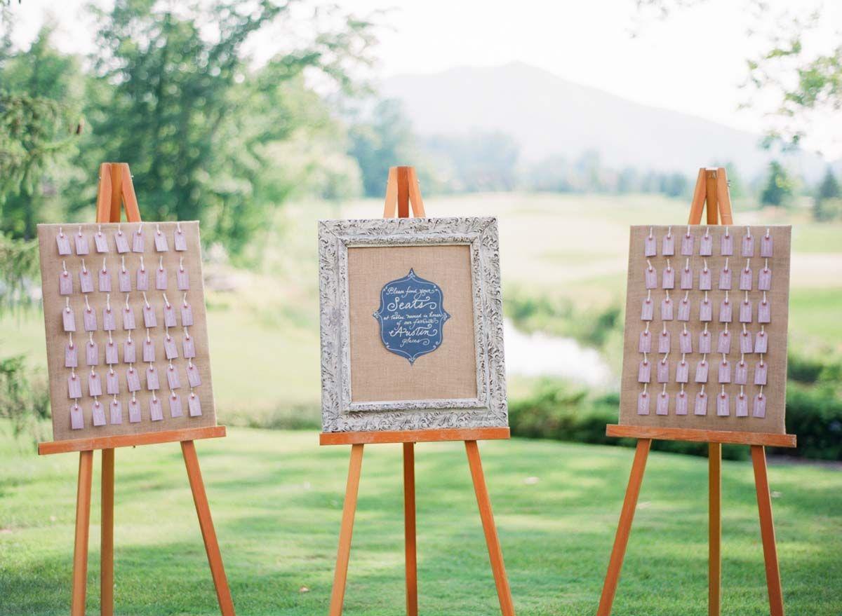 Escort Card Display - Elisa B Photography (www.calligraphybycarrie.com)