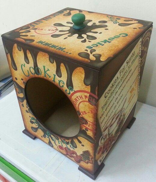 Caja para cookies cajas decoradas pinterest cajas - Cajas de madera decorativas ...