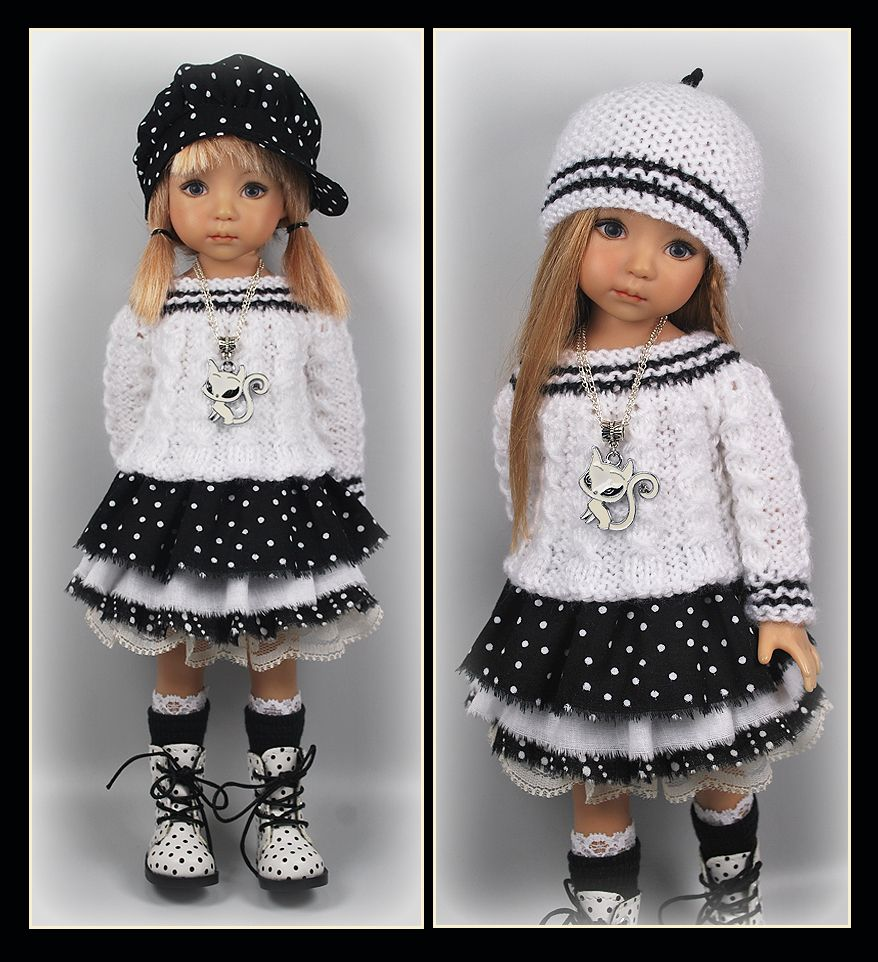 OOAK Black White Outfit from maggie_kate_create ends 8/17/14.
