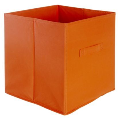 Mixxit Cube Fabric Storage Box, Orange 310mm, 5052931158652