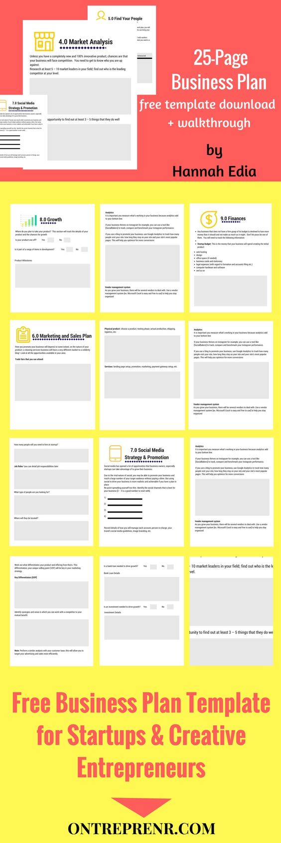 How To Write A Killer Business Plan In Less Than One Week Using This Epic Business  Plan Template For Startups And Entrepreneurs