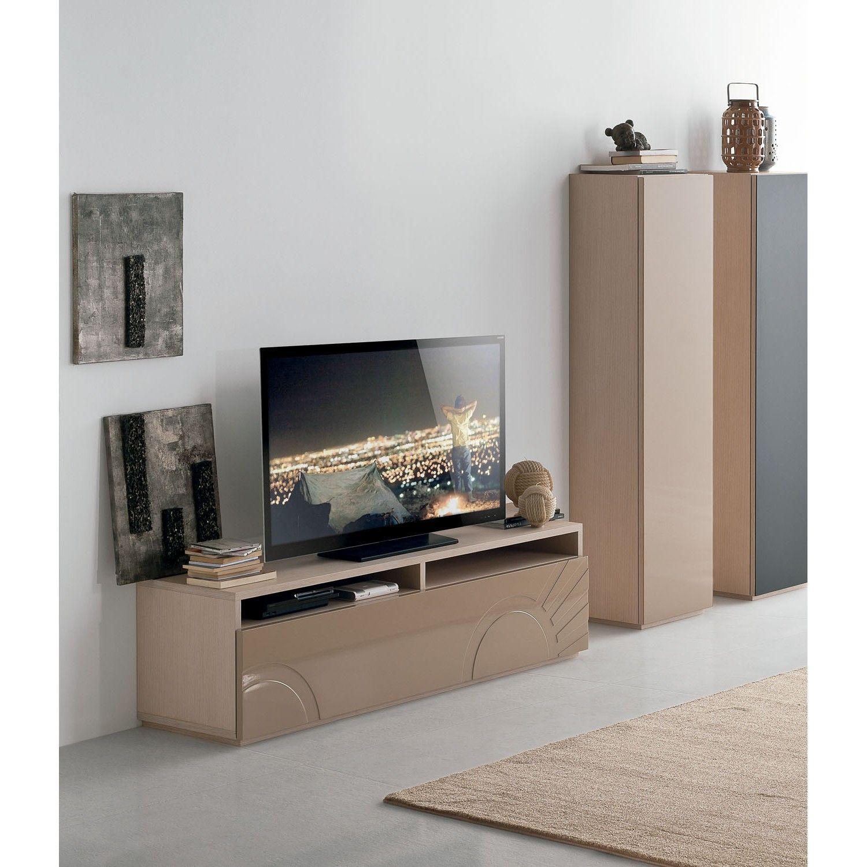 Megaa, un mueble de TV sencillo pero completo   Mesas de tv, Muebles ...