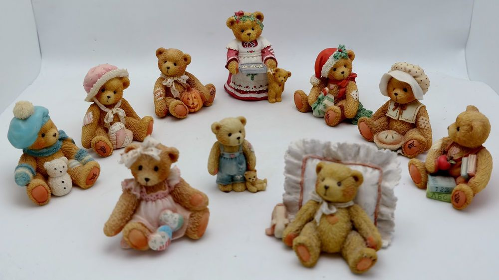 Vintage Cherished Teddies LOT of TEN 1991 - 1995 All EXC. Holiday Seasons Months