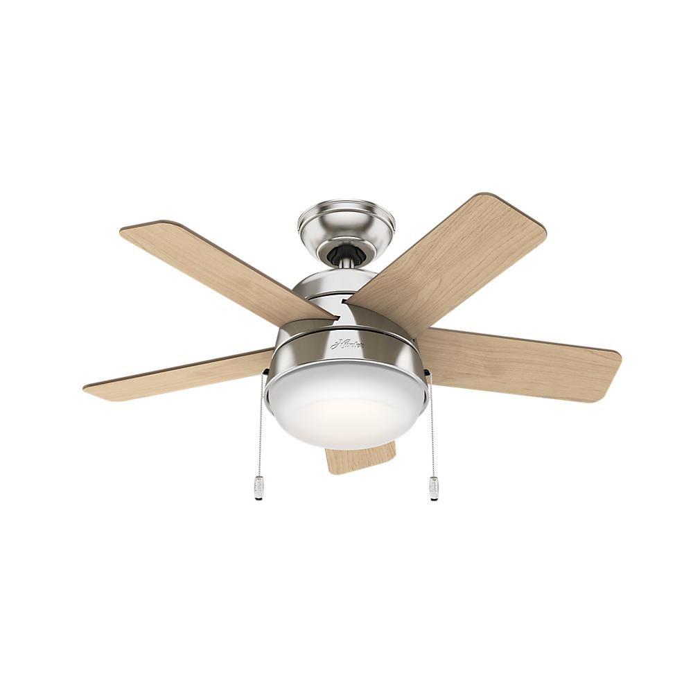 Hunter Tarrant 36 In Led Indoor Brushed Nickel Ceiling Fan 59304