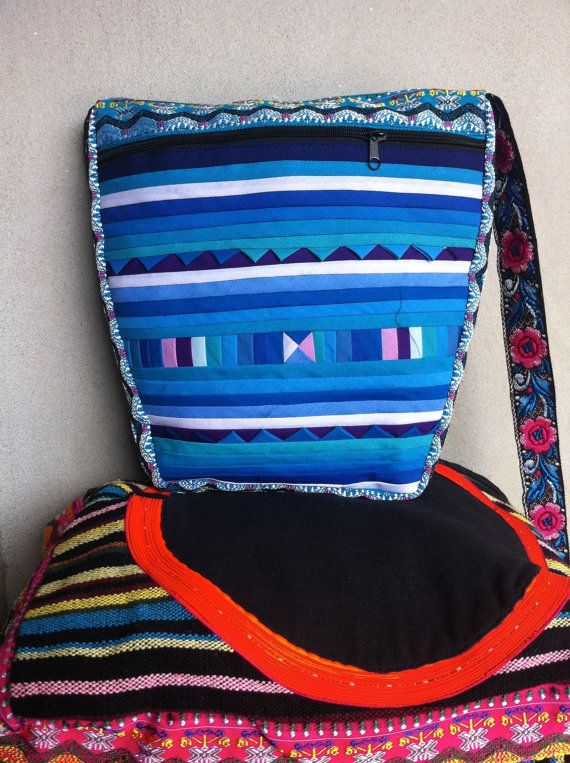 Large Handbag - Handmade by Lisu Hill Tribe In Northern Thailand