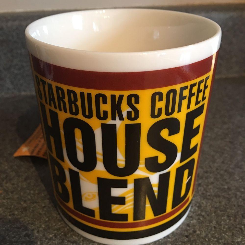 Starbucks Coffee House Blend Coffee Tea Cocoa Mug New 1998