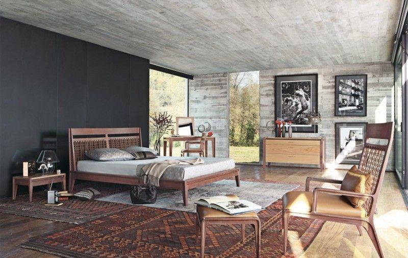 industrielle Schlafzimmer Design mit Sichtbeton und eine - schlafzimmer design ideen roche bobois
