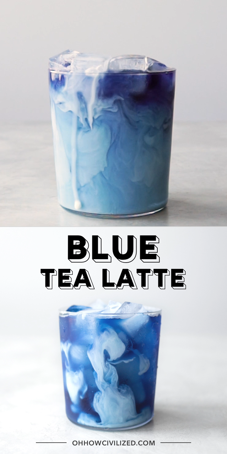 Blue Tea Latte at Home