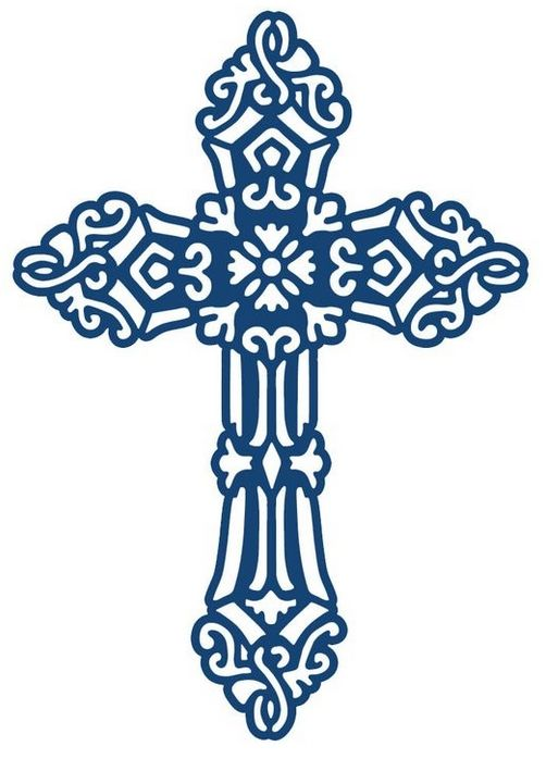 blue cross clipart of