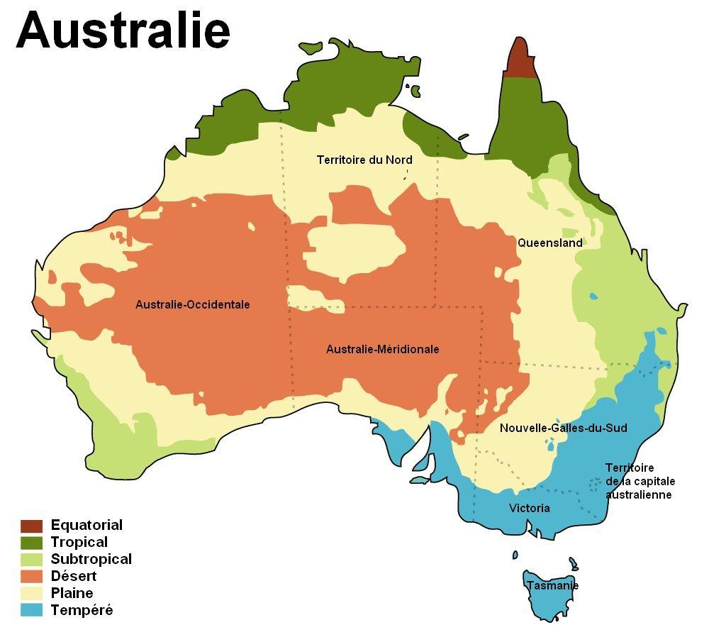 Carte Geologique Australie.Carte Des Climats De L Australie Homeschooling Australie