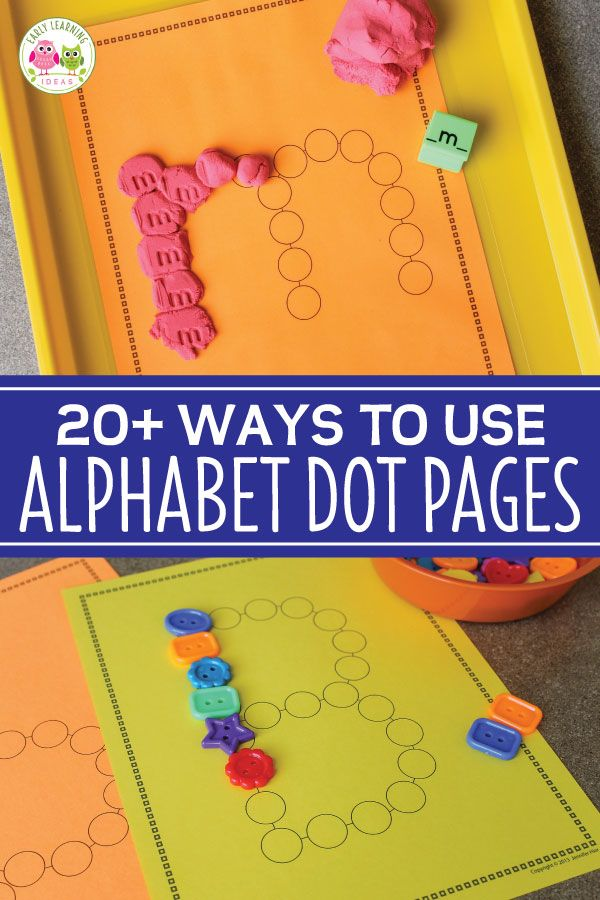The Best Way to Use Alphabet Dot Letters 20 Fun Ideas is part of Learning centers preschool, Alphabet preschool, Preschool centers, Literacy activities preschool, Preschool literacy centers, Preschool letters - Check out all these fun ways to use printable alphabet dot letters with your kids  Teach letter recognition and letter formation while providing many opportunities for sensory input and fine motor practice  Your students will love these alphabet activities  I love to think of creative ways to use things  That includes everything from art and craft supplies to recyclables and 'trash'  It also includes printable