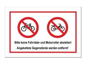 Bitte Keine Fahrrader Und Motorroller Abstellen Verbotenschild Motorroller Roller Motor