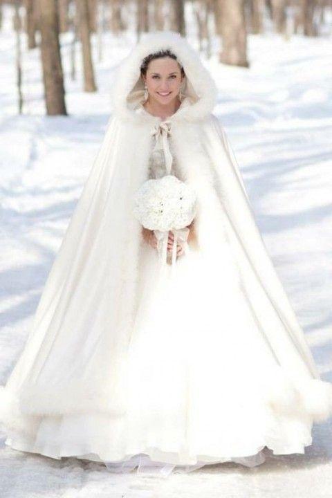 Robe de mariee hiver fourrure