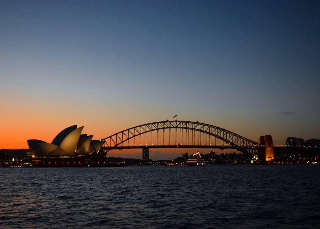 love sunsetsthey are magical  #australia #nsw #sydney #sunset #operahouse #sydneyharbourbridge #sydneyoperahouse #lovely #evening #magical by _maggie_mag http://ift.tt/1NRMbNv