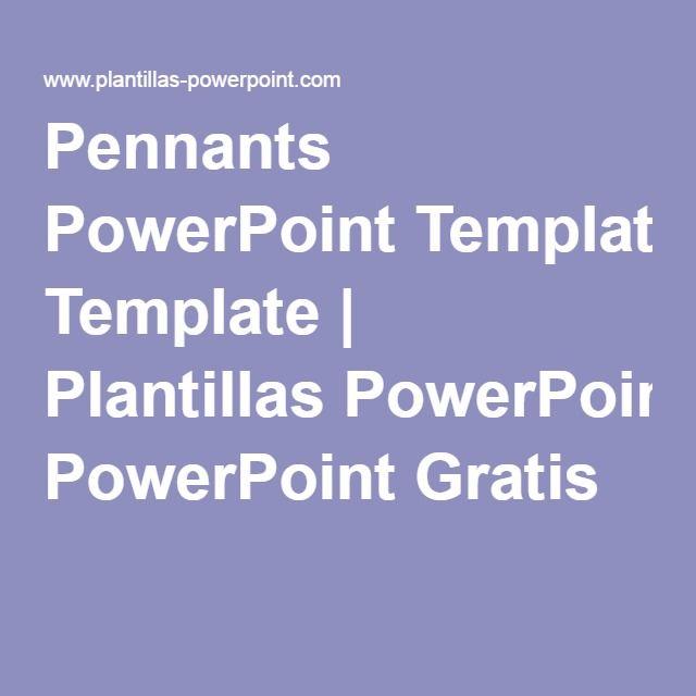 pennants powerpoint template plantillas powerpoint gratis