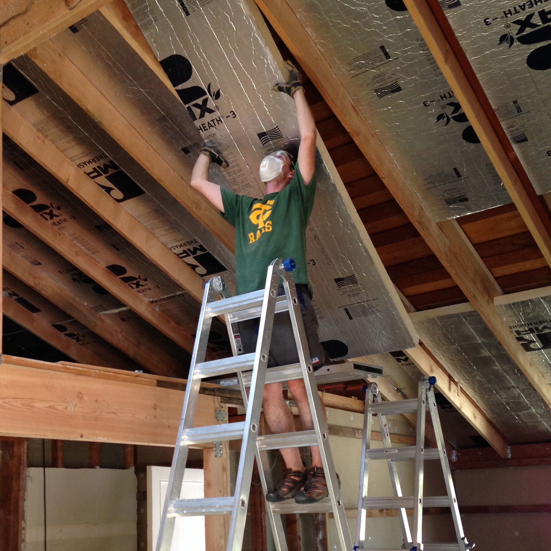 How We Turned Our House Into A Giant Foam Box Part Ii Ceiling